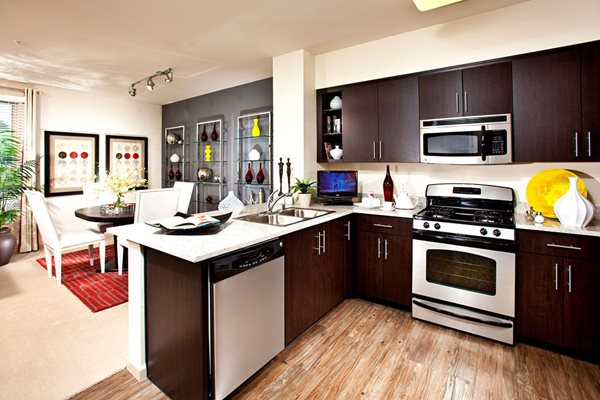 Model Kitchen Appliances at Carabella at Warner Center Apartments in Woodland Hills CA