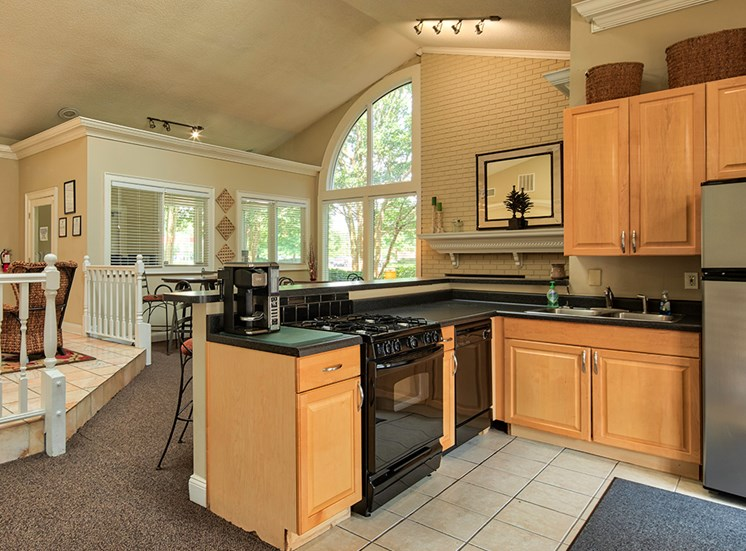Clubhouse Kitchen at York County VA apartments