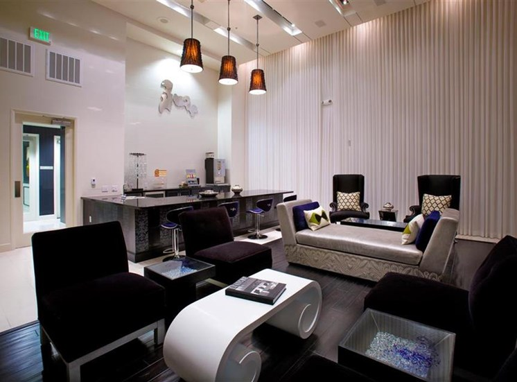 Social lounge at Carillon Apartment Homes in Woodland Hills CA
