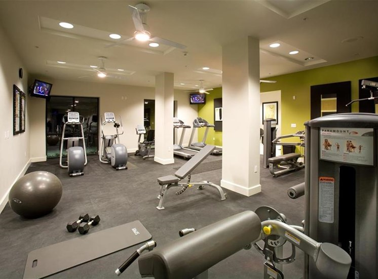Fitness center at Carillon Apartment Homes in Woodland Hills CA