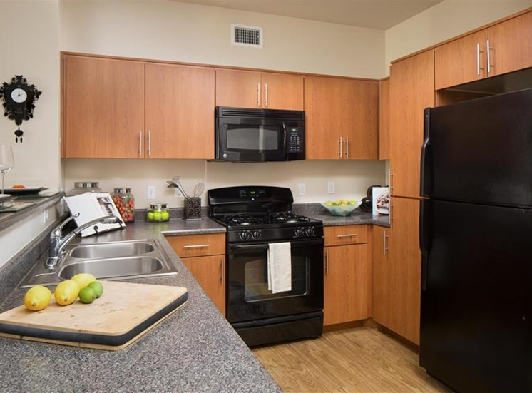 Kitchen at Carillon Apartment Homes in Woodland Hills CA
