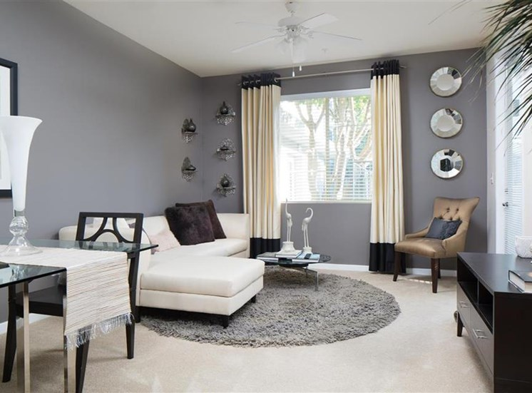 Living Room at Carillon Apartment Homes in Woodland Hills CA