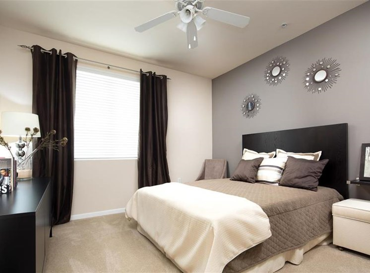 Master suite at Carillon Apartment Homes in Woodland Hills CA