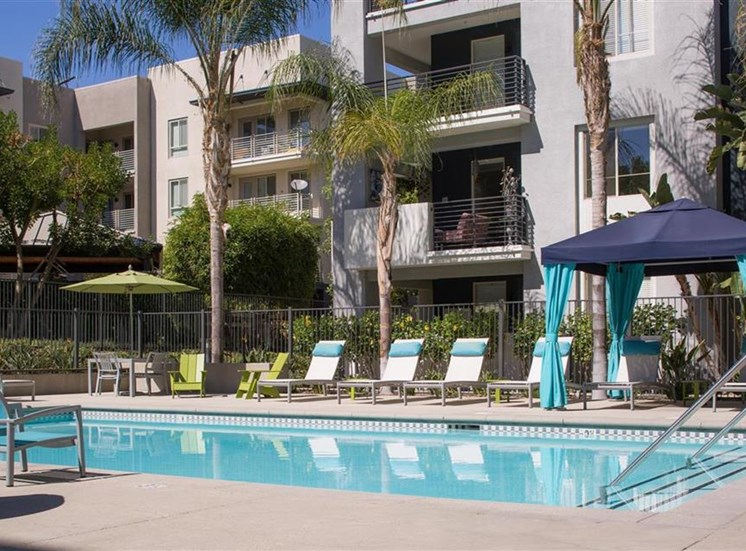 Pool at Carillon Apartment Homes in Woodland Hills CA