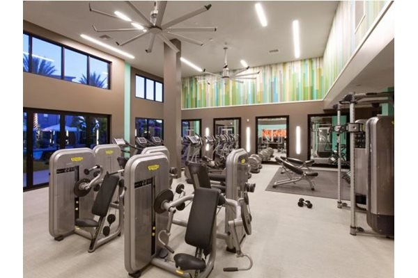Techno Gym Equipment at Terrena Apartment Homes in Northridge, CA
