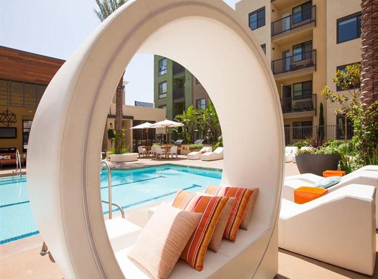 Splash pool at Terrena Apartment Homes in Northridge CA