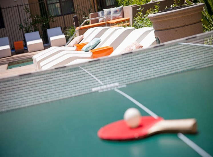 Ping pong table at Terrena Apartment Homes in Northridge CA
