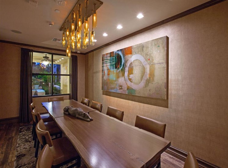 Conference and dining room at Terrena Apartment Homes in Northridge CA