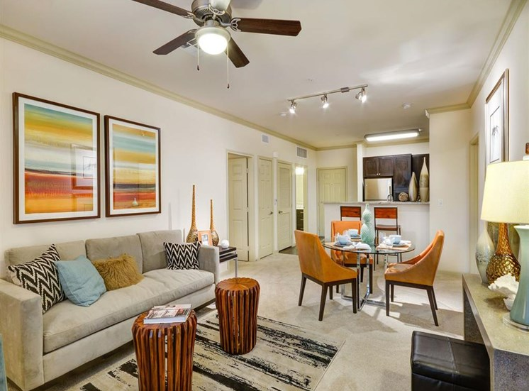 Living room at Terrena Apartment Homes in Northridge CA