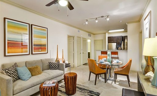 Living room at Terrena Apartment Homes in Northridge CA