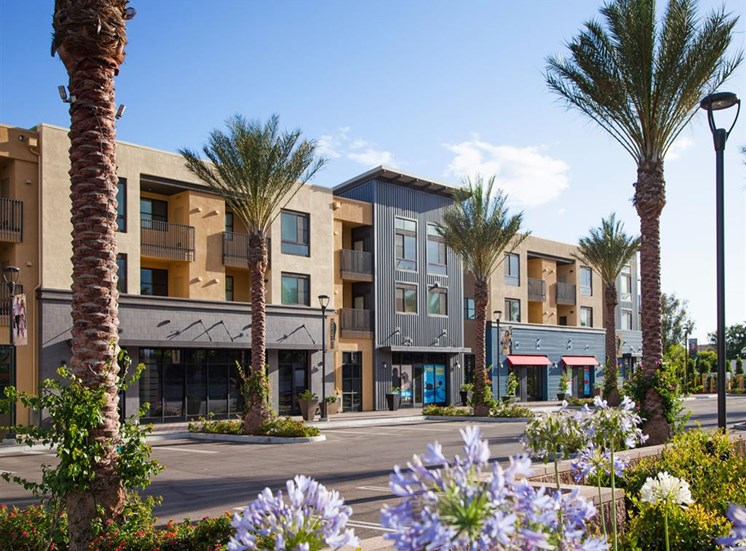 Collection onsite retail at Terrena Apartment Homes in Northridge CA
