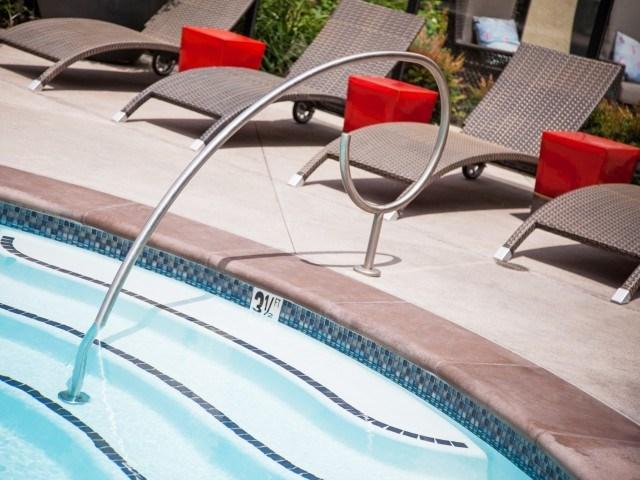Oasis salt water pool at Terrena Apartment Homes in Northridge CA