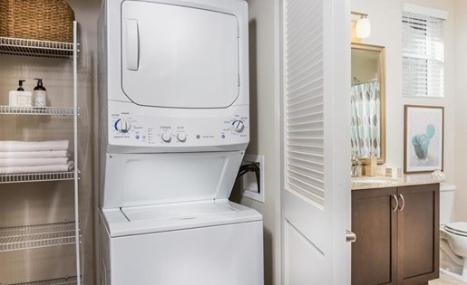 Washer and dryer at Capriana at Chino Hills Apartments in Chino Hills CA