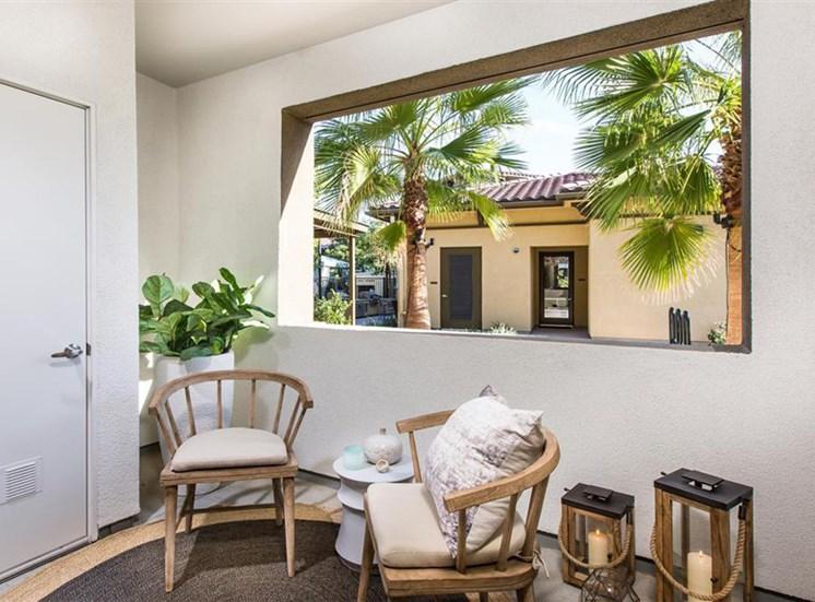 Patio at Capriana at Chino Hills Apartments in Chino Hills CA