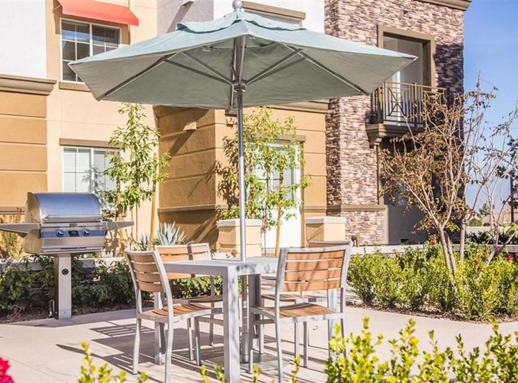 BBQ grills at Capriana at Chino Hills Apartments in Chino Hills CA