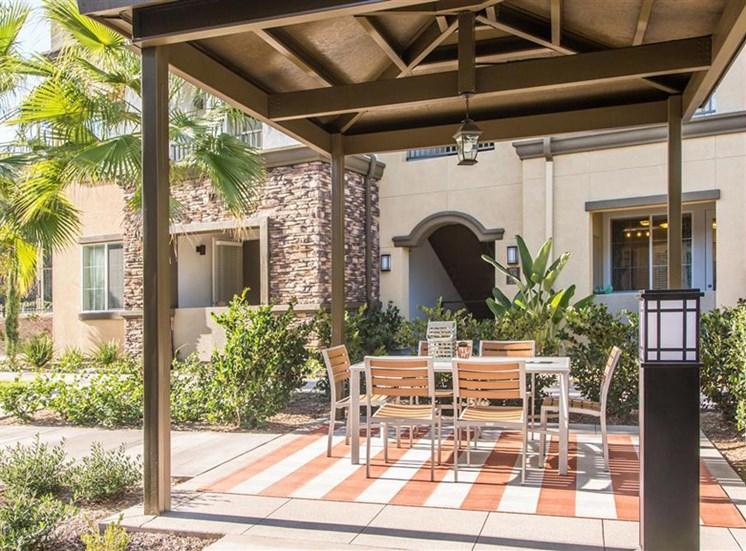 Picnic table at Capriana at Chino Hills Apartments in Chino Hills CA