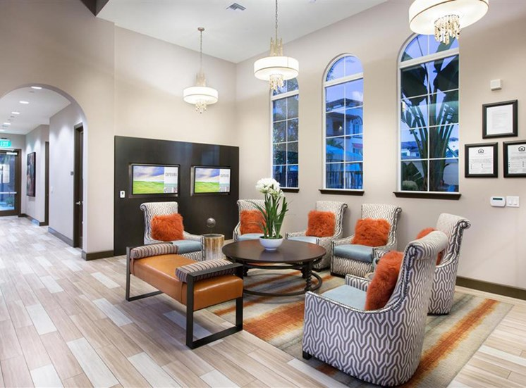Leasing office at Capriana at Chino Hills Apartments in Chino Hills CA