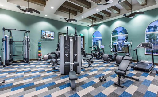 Fitness center at Capriana at Chino Hills Apartments in Chino Hills CA