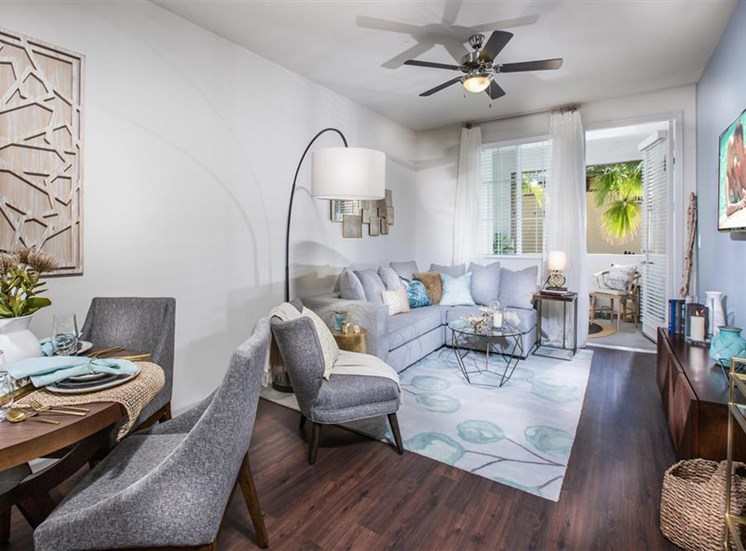 Living room at Capriana at Chino Hills Apartments in Chino Hills CA