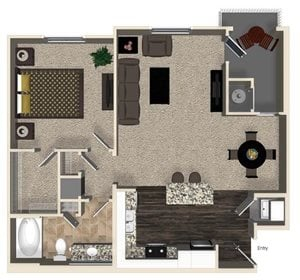 A1 floor plan for Capriana at Chino Hills Apartments in Chino Hills, CA