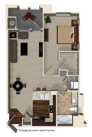 A2 floor plan for Capriana at Chino Hills Apartments in Chino Hills, CA