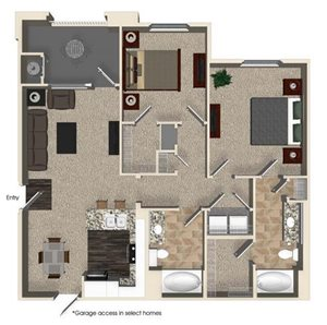 B1 floor plan for Capriana at Chino Hills Apartments in Chino Hills, CA