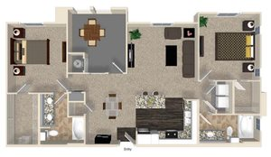 B3 floor plan for Capriana at Chino Hills Apartments in Chino Hills, CA
