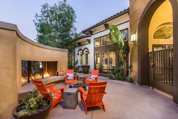 Capriana at Chino Hills Apartments Outdoor fireplace