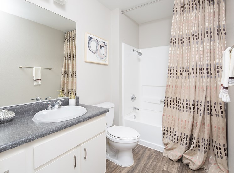 Upgraded Bathroom at Sorelle apartments in Moreno Valley CA
