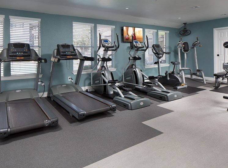 Upgraded Fitness Center with Cardio Machines at Sorelle apartments in Moreno Valley CA