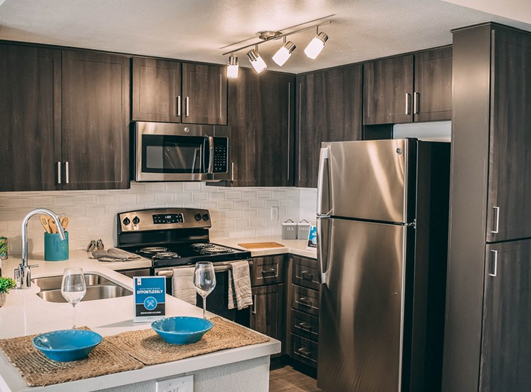 Full Rehab Model Kitchen at Merrick Apartments in Placentia CA