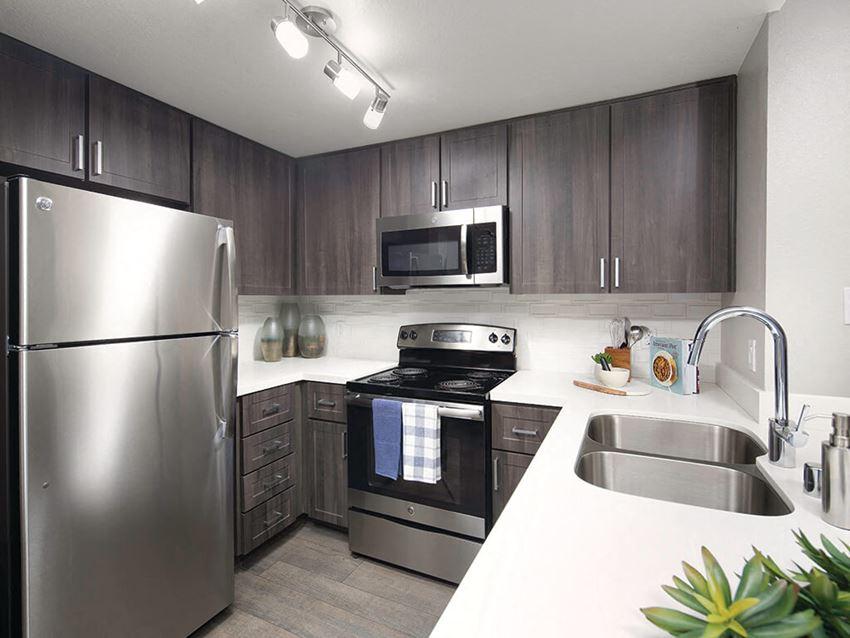 Full Rehab Kitchen at Merrick Apartments in Placentia CA