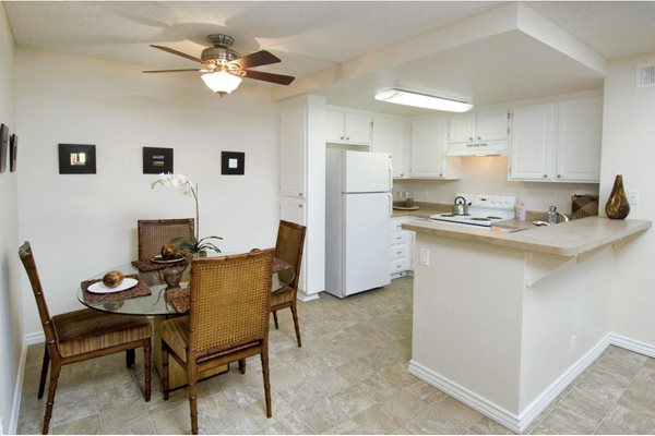 Dining area at Merrick Apartments in Placentia, CA