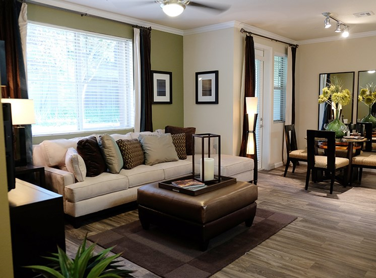 Model Living Room at Dakota Apartments in Winchester CA