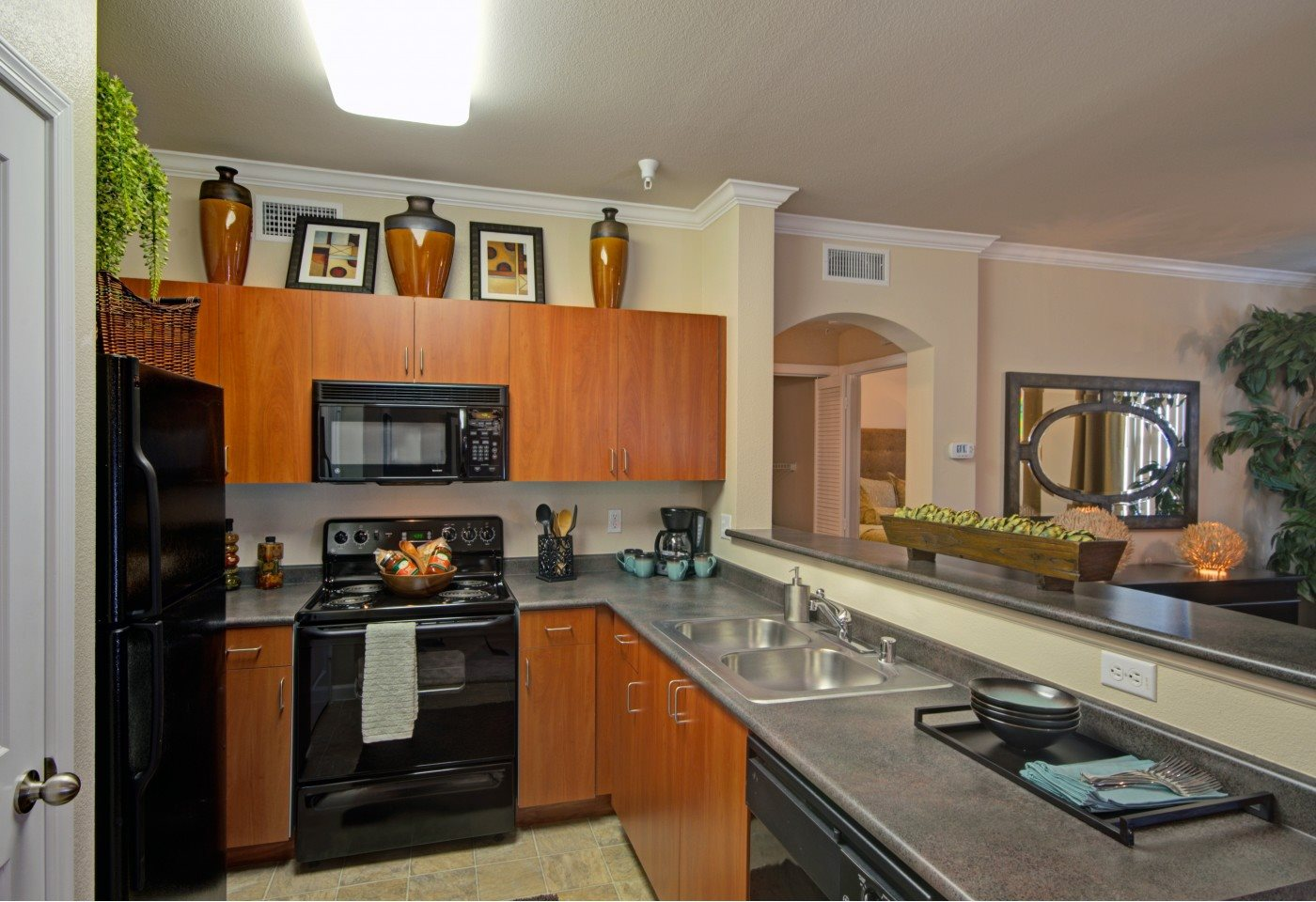 One bedroom kitchen at Ridgestone Apartments in Lake Elsinore CA