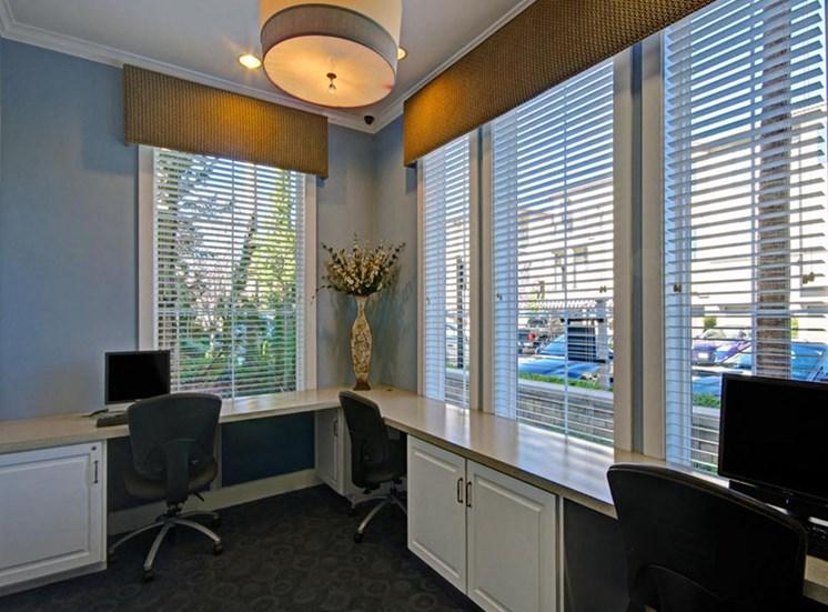 Business center at Ridgestone Apartments in Lake Elsinore CA