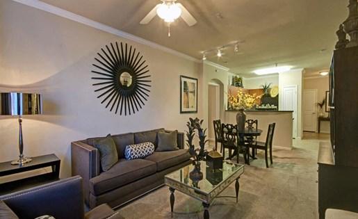 Two bedroom living room at Ridgestone Apartments in Lake Elsinore CA