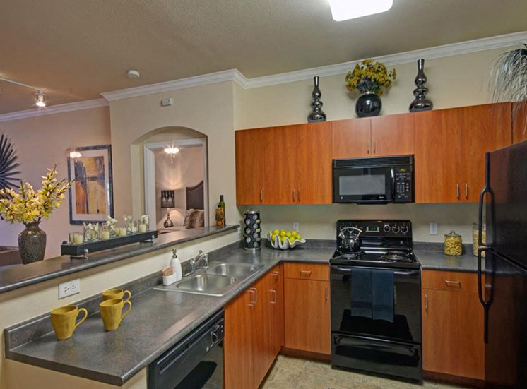 Two bedroom kitchen at Ridgestone Apartments in Lake Elsinore CA