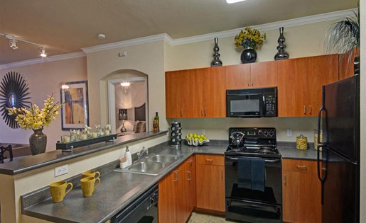 Two bedroom kitchen at Ridgestone Apartments in Lake Elsinore CA