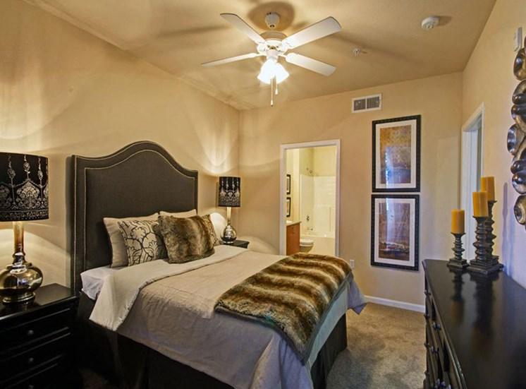 Two bedroom master bedroom at Ridgestone Apartments in Lake Elsinore CA