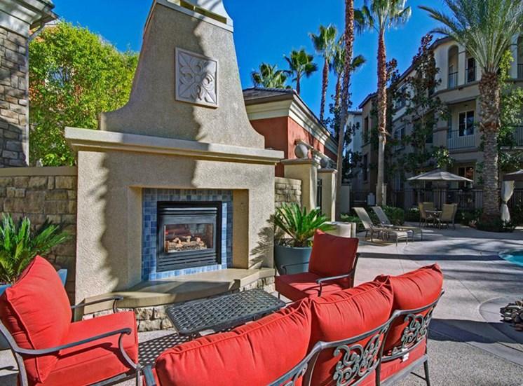 Fire lounge at Ridgestone Apartments in Lake Elsinore CA