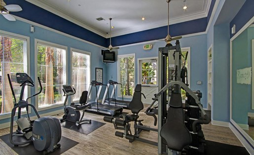 Fitness center at Ridgestone Apartments in Lake Elsinore CA