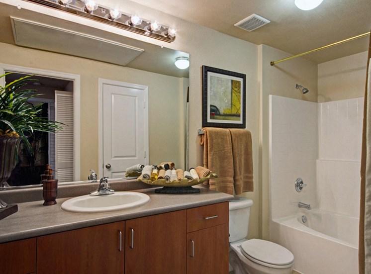 Large bathroom vanities at Ridgestone Apartments in Lake Elsinore CA