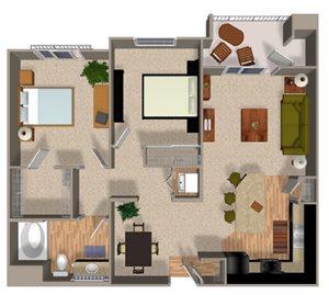Conserve floor plan at Alterra & Pravada Apartments in La Mesa, CA
