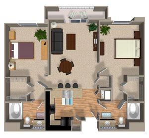 Inspire floor plan at Alterra & Pravada Apartments in La Mesa, CA