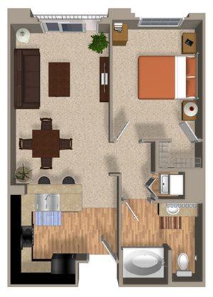 Renew floor plan at Alterra & Pravada Apartments in La Mesa, CA