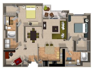Element floor plan at Alterra & Pravada Apartments in La Mesa, CA