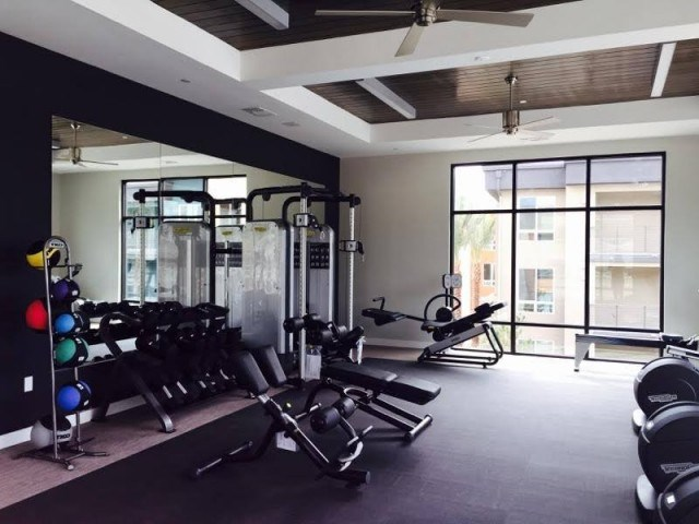 Free weight fitness center at Pulse Millenia in Chula Vista CA