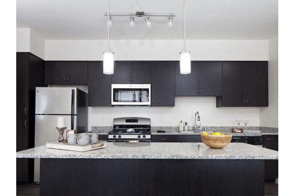 Kitchens at Pulse Millenia Apartments in Chula Vista, CA