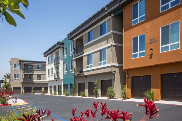 Private garages at Pulse Millenia Apartments in Chula Vista, CA